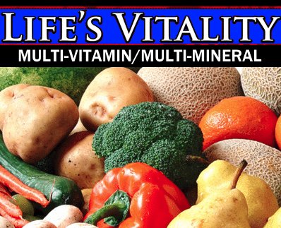 Wholesale Vitamins Reseller Life's Vitality Multi-Vitamin Multi-Mineral Supplement Distributor