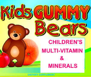 Private Label Gummy Bears Kids Multi-Vitamin & Minerals Wholesale Supplements