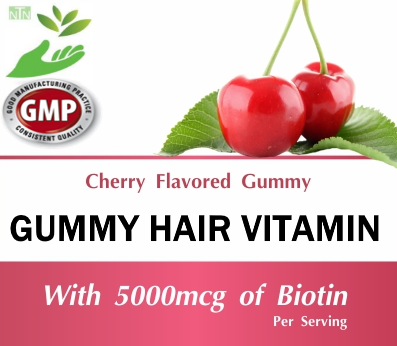 Private Label Wholesale Gummy Hair Vitamin Complex Supplement Distributor