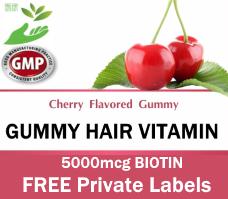 Private Label Gummy Hair Vitamin Wholesale Supplement Distributor