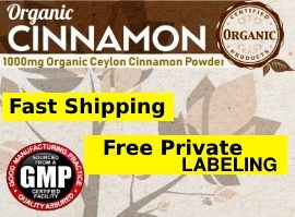 Private Label Organic Ceylon Cinnamon Supplement Distributor