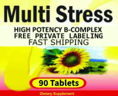 Multi-Stress Vitamin-B-Complex Private Label Vitamins and Supplements Distributor