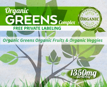 Private Label Organic Greens Complex Supplement Supplier Distributor