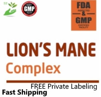 Private Label LION'S MANE COMPLEX Brain, Heart, Immune, Cancer support Supplement