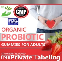 White/Private Label Organic Gummies Probiotic Wholesale Supplements Distributor
