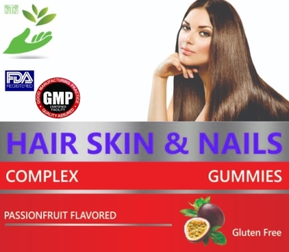 Private Label Hair Skin Nails GUMMY Supplement