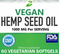 Private/White Label Vegan Hemp Seed Oil Supplement Distributor
